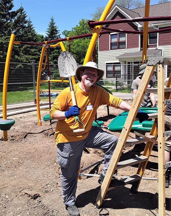 Kent on the playground
